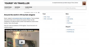 Playing with travel journalism…
